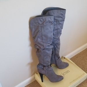 Cathy Jeans tall Grey Boots